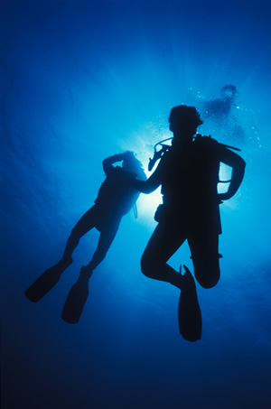 Explore the underwater world through scuba diving!